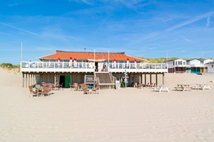 Beach pavilion in Netherlands