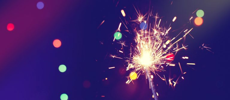 christmas, new year abstract background with sparkler