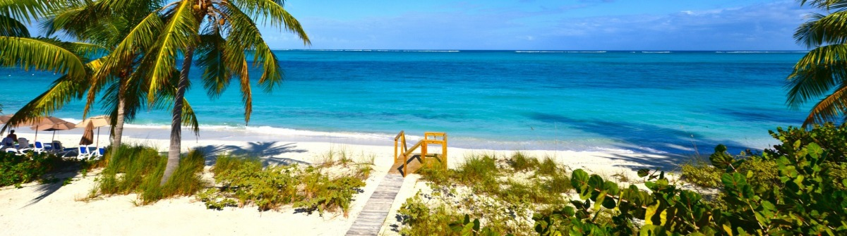 Steps at Grace Bay Beach in Turks and Caicos