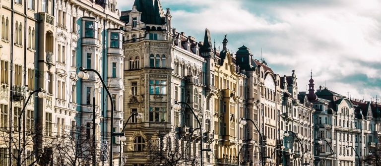 Buildings and Streets of Prague, Czech Republic