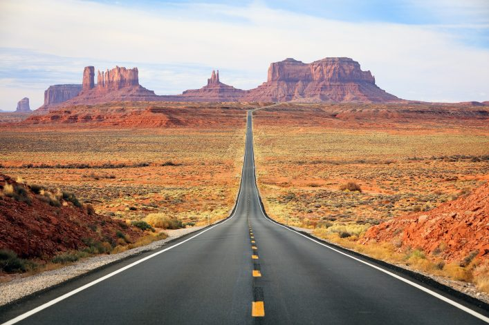 Straße nach Monument Valley