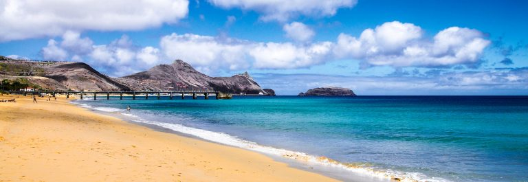 Porto Santo golden beach
