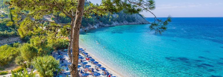 Lemonakia Beach in Samos Island, Greece shutterstock_611073635