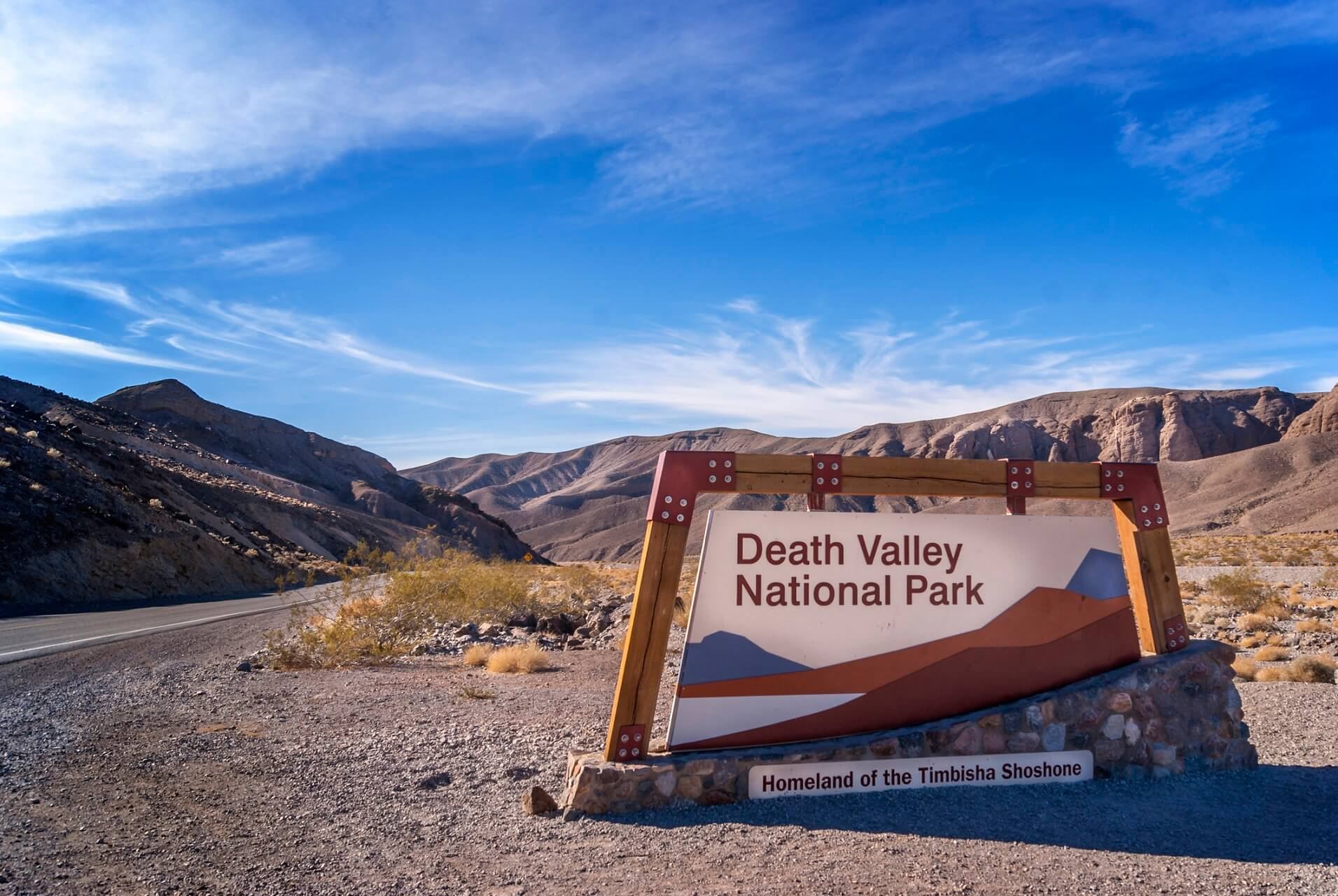 Das Death Valley Nationalpark Schild