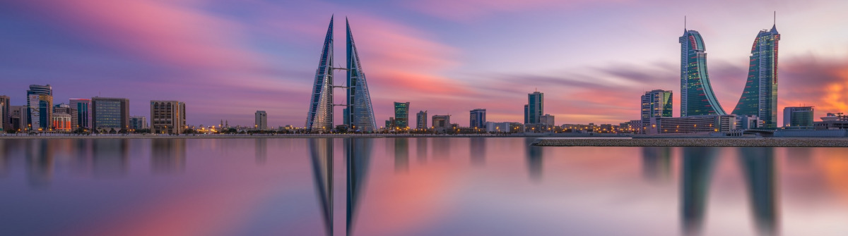 Manama in Bahrain Skyline