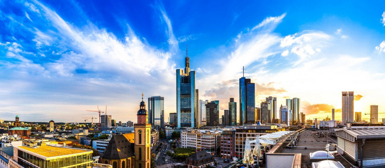 Aerial-view-of-Frankfurt-with-Hauptwachen-at-sunset-shutterstock_287388986-2