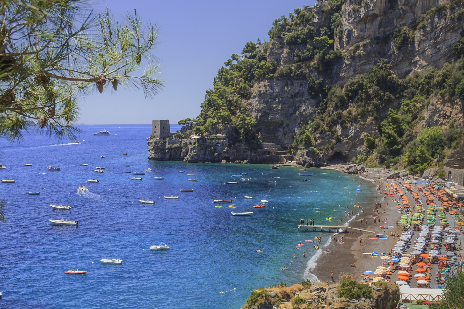 Fornillo Beach in Positano an der Amalfiküste