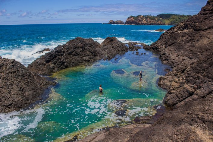 Mermaid Pool in Matapouri, Neuseeland