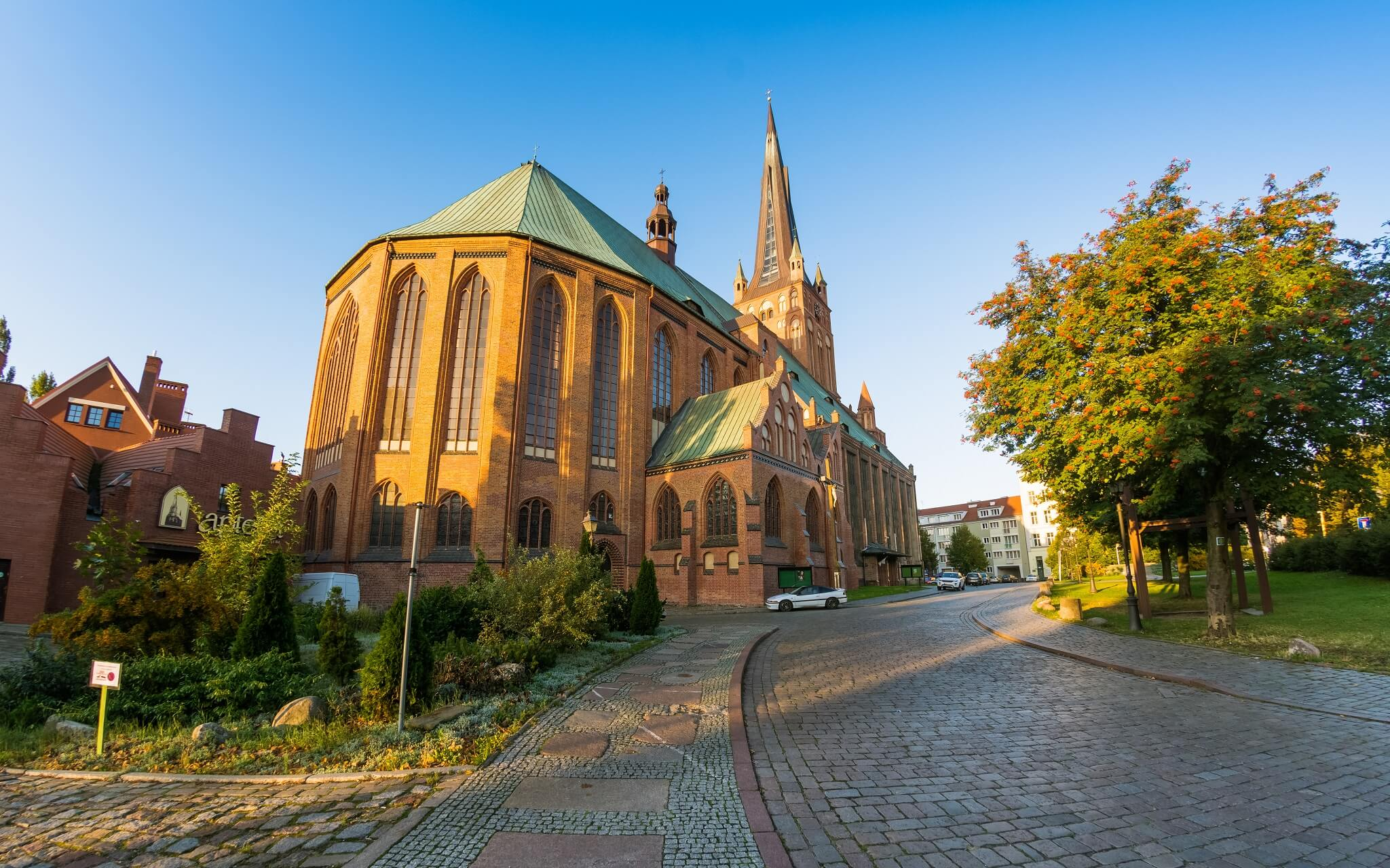 Jakobskathedrale (Church St. Jacob) in Stettin, Polen.