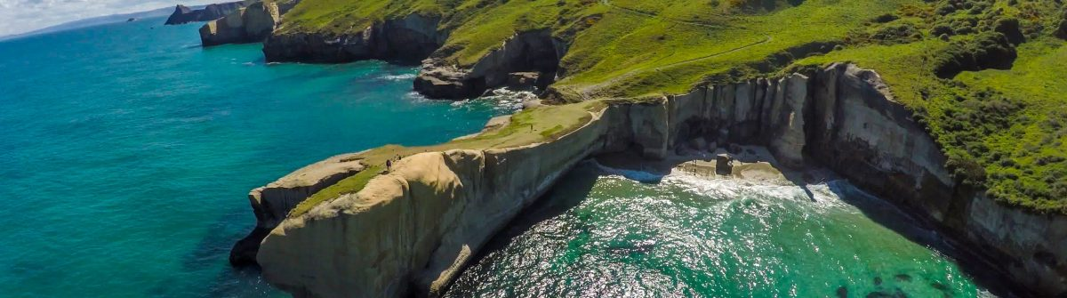 Tunnel Beach bei Dunedin