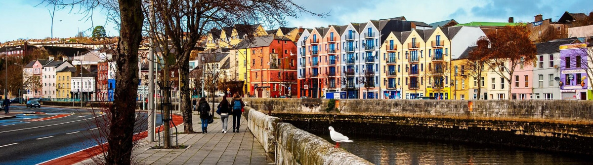 River Lee in Cork, Irland