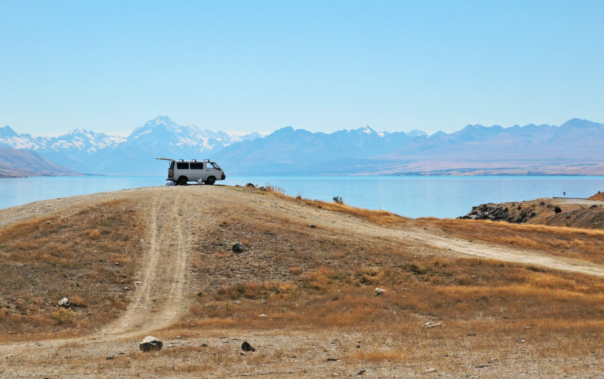 Camping am Lake Pukaki in Neuseeland