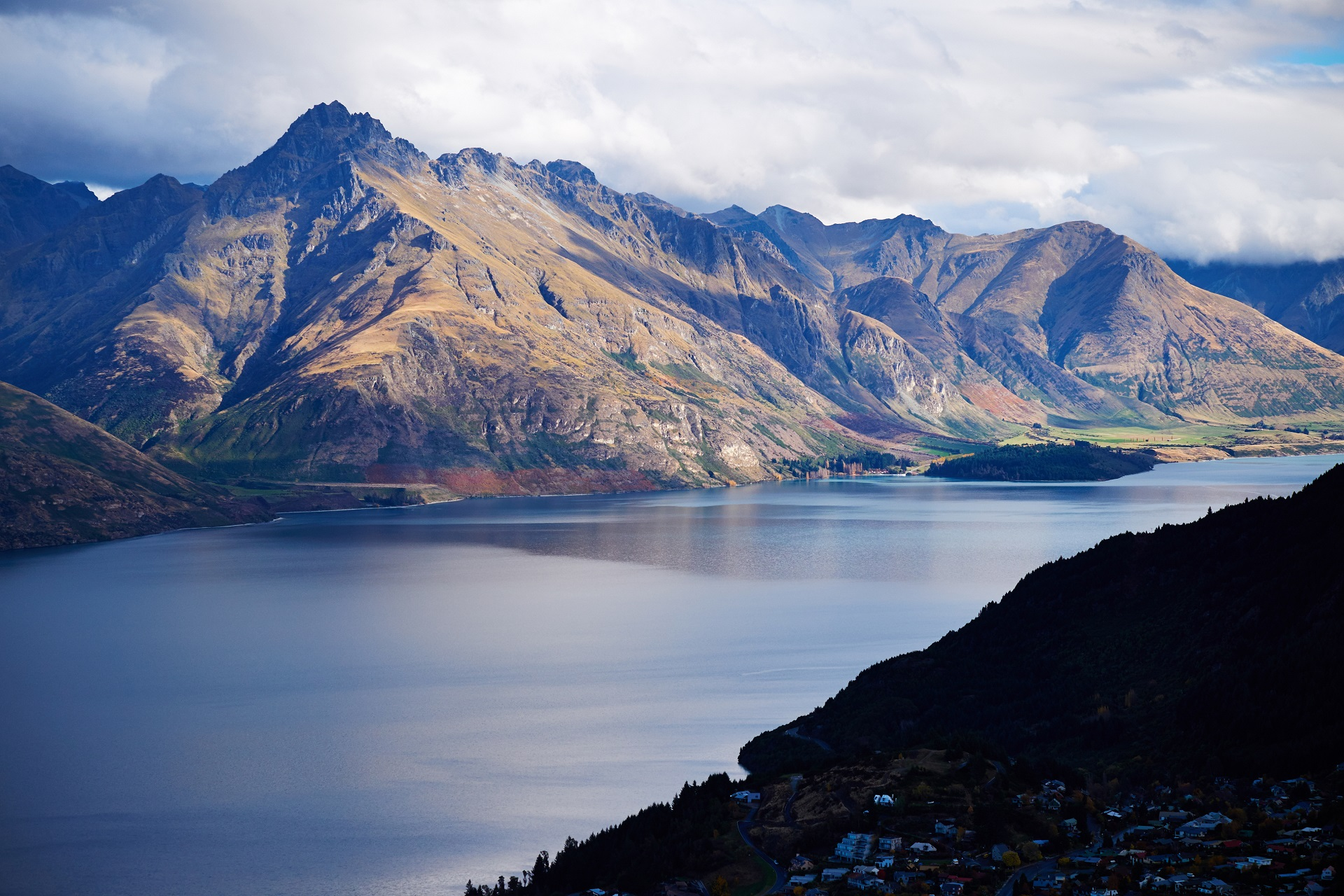 Cecil Peak am Lake Wakatipu in Queenstown, Neuseeland