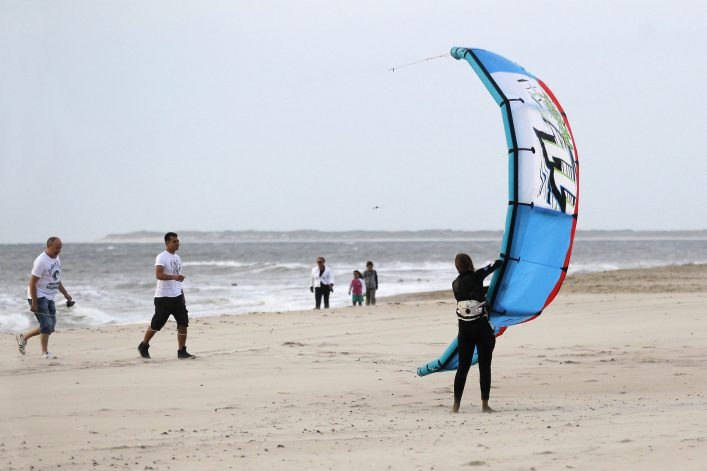 Kitesurfer in Holland