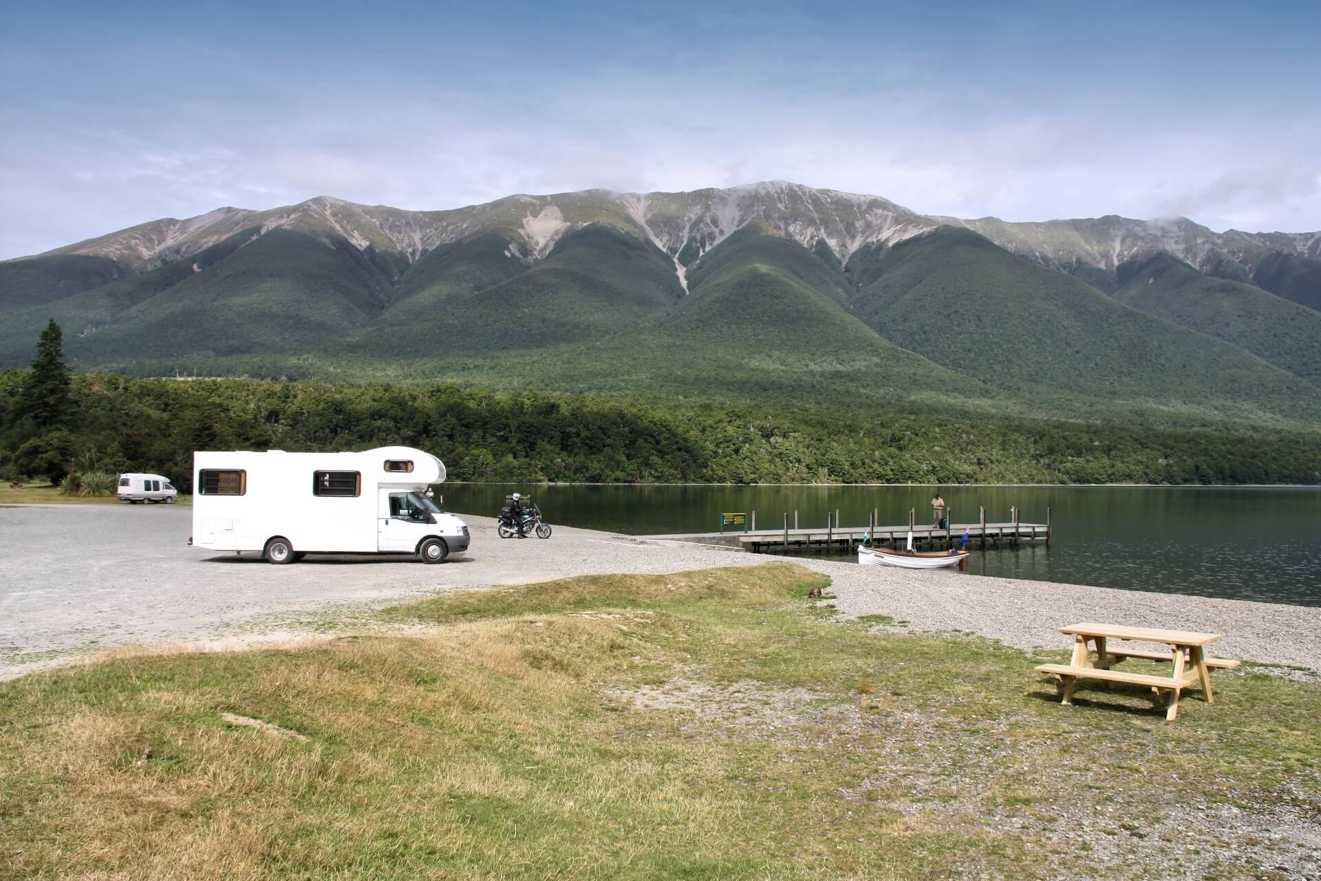 Camping an den Nelson Lakes in Neuseeland