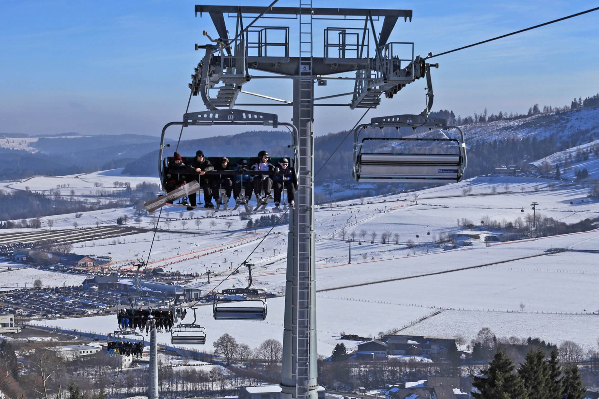 Sessellift am Ritzhagen im Skigebiet Willingen Wintersport-Arena Sauerland