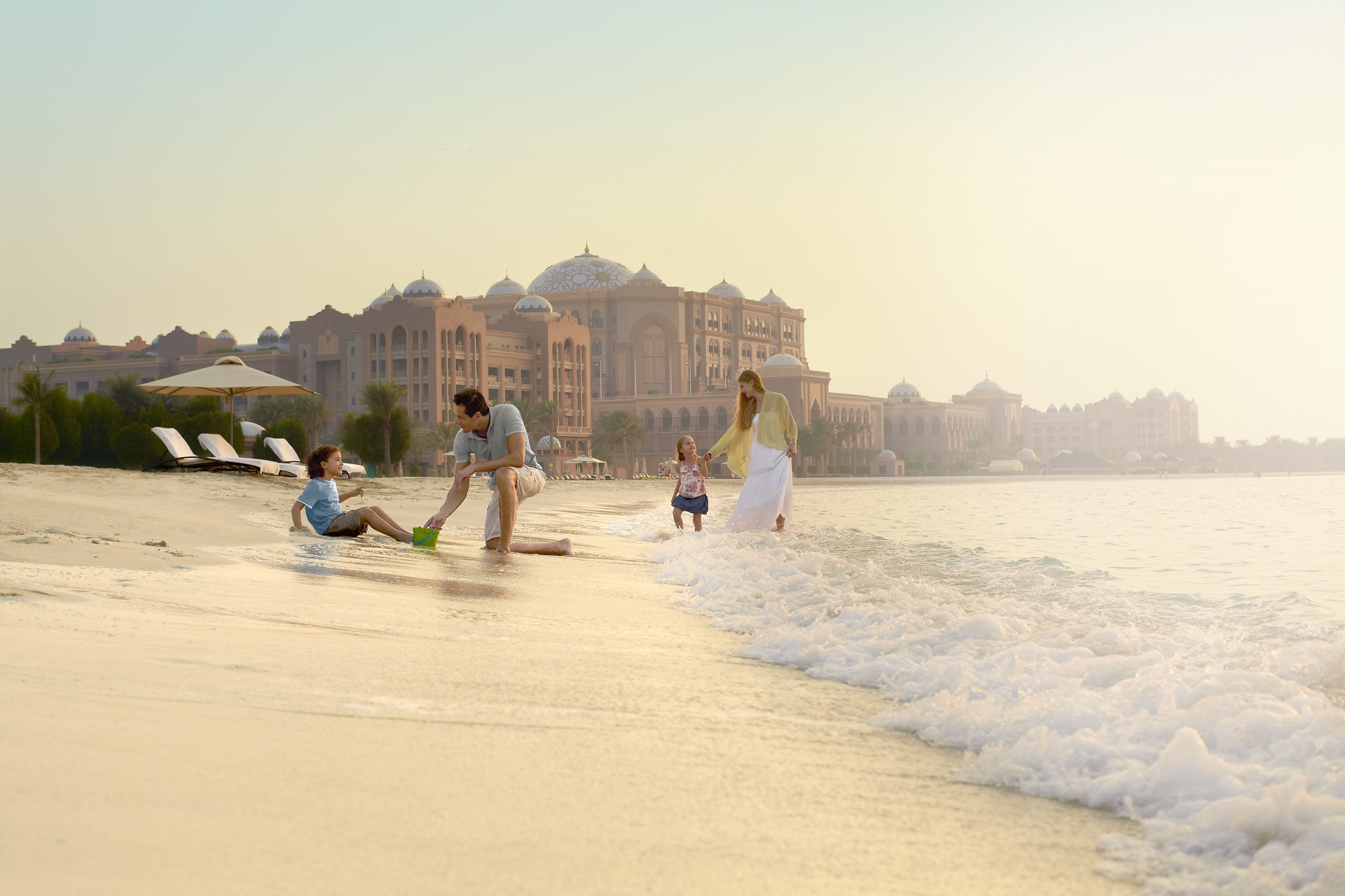 Emirates Palace in Abu Dhabi, Privatstrand