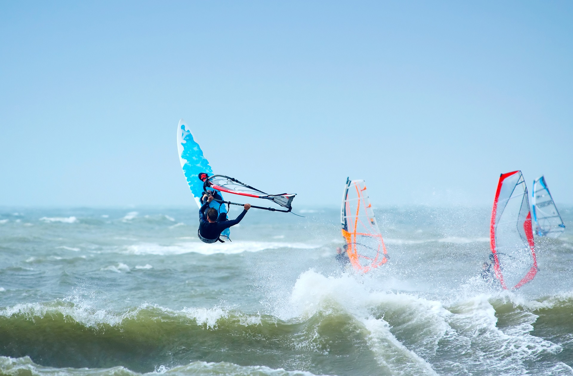 Windsurfing in Holland