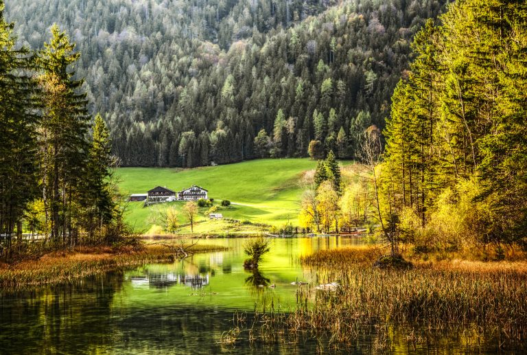 Autumn Scenic – Lake Reflections in Bavaria Germany