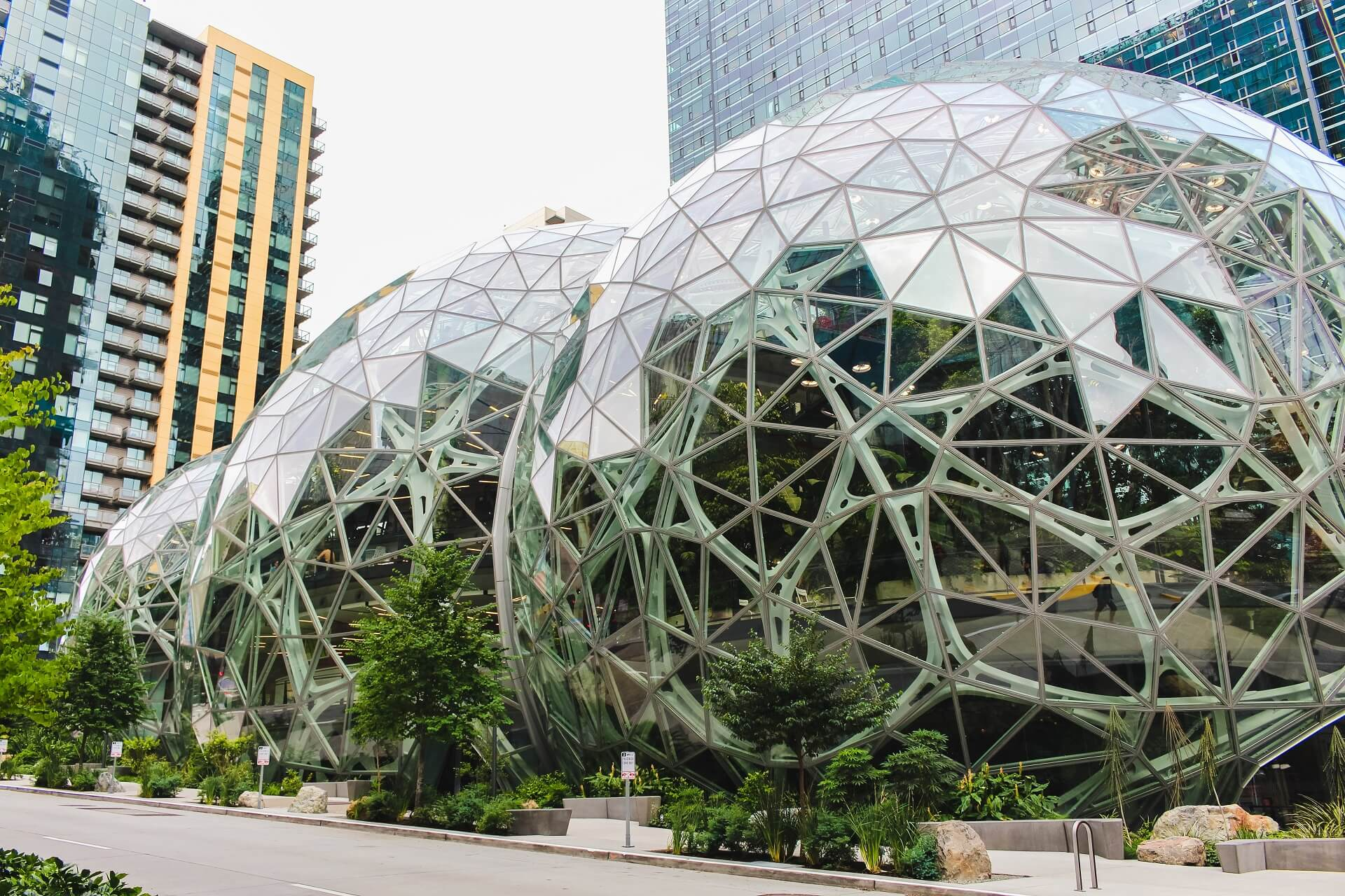 Die Spheres auf dem Amazon Campus in Seattle