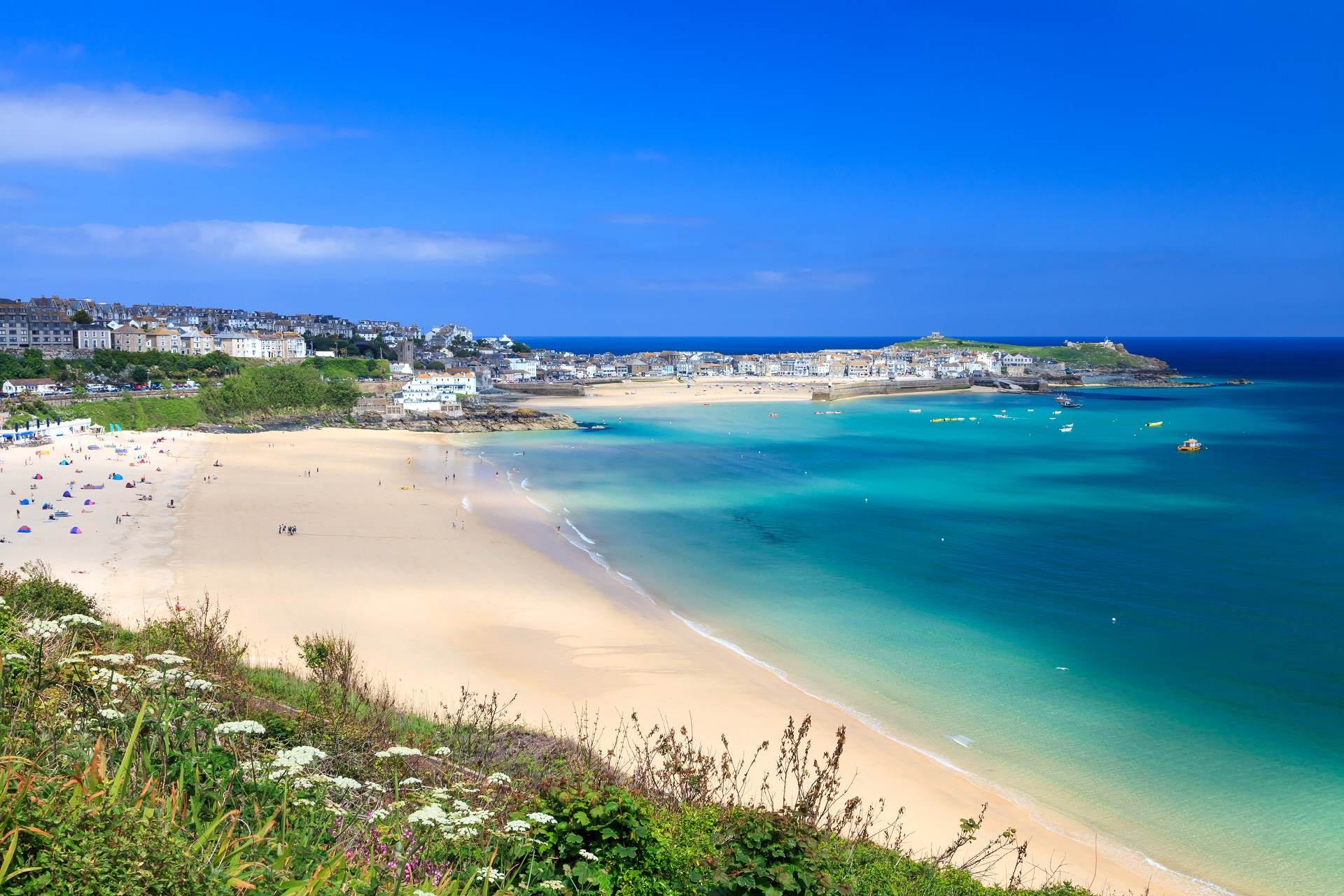 Porthminster Beach in St. Ives, England