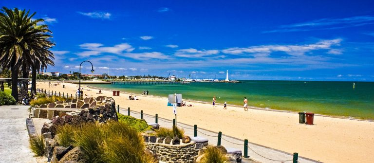 St Kilda Beach in Melbourne