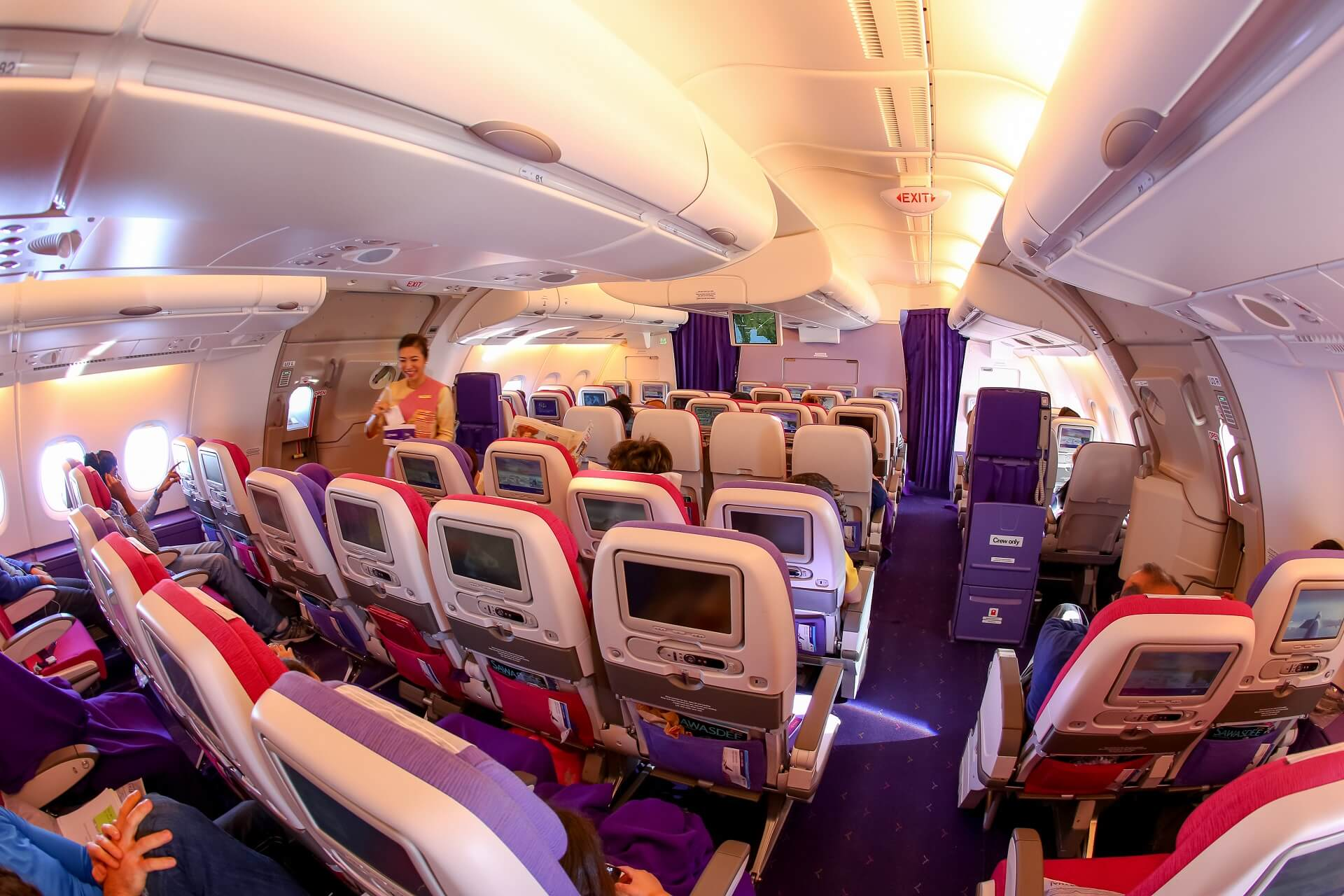 Die Economy Class von Thai Airways