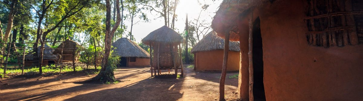 Traditional, tribal hut of Kenyan people