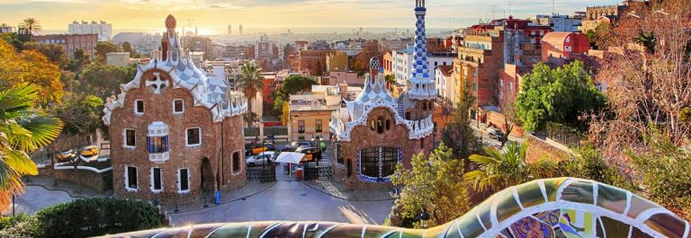 Gaudis Park Guell in Barcelona