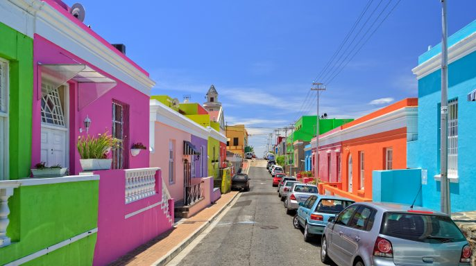 Bo Kaap Township in Cape Town