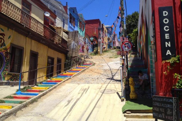 Templeman-Treppe in Valparaiso