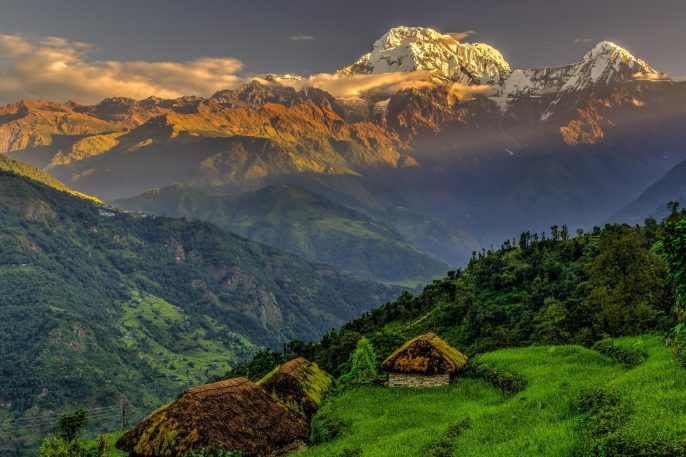 Annapurna-South-in-the-morning-Himalayas-Nepal-shutterstock_190469312
