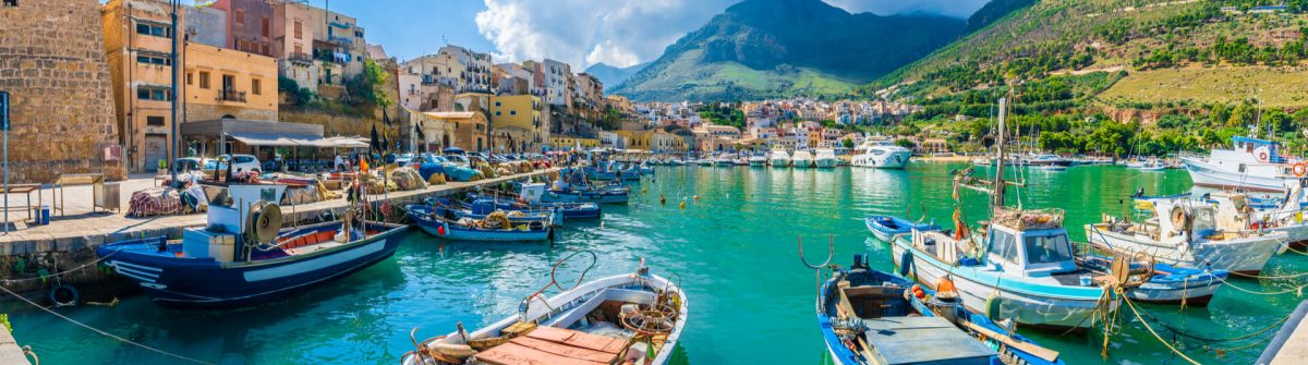 Boote in Sizilien, Italien