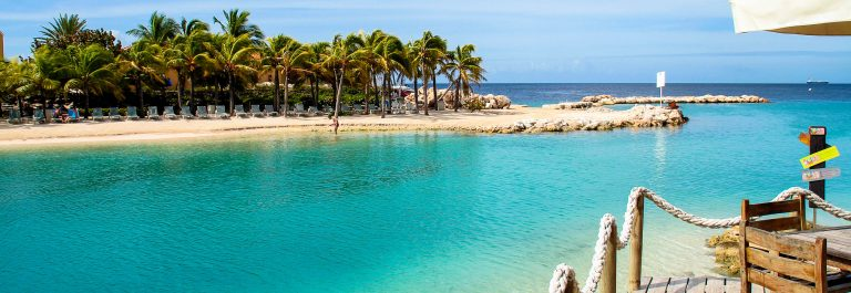 Mambo Beach on the island curacao