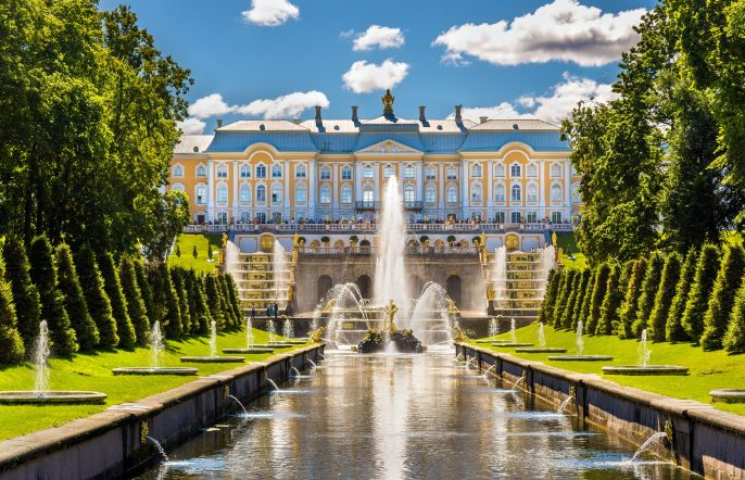View of the Peterhof Grand Palace – Russia