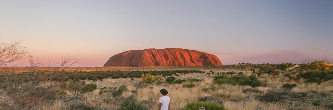RESTRICTED USE: Sunset on Uluru