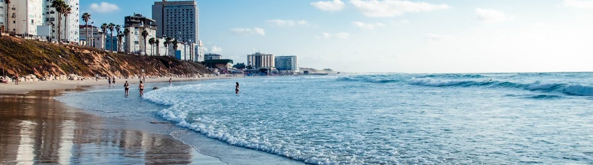 View of a  beach, Israel .