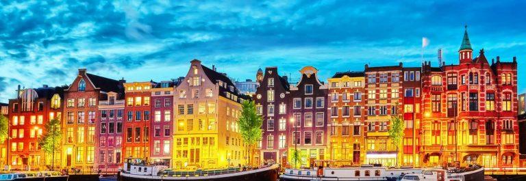 Amsterdam Kanal bei Nacht
