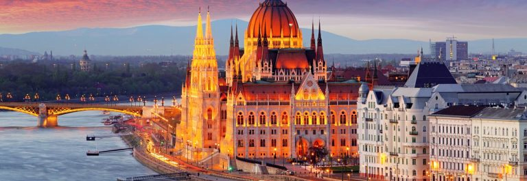 Hungarian-parliament-Budapest-at-sunset_shutterstock_768128938