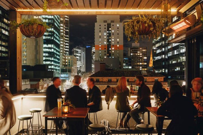 Bomba Rooftop Bar in Melbourne