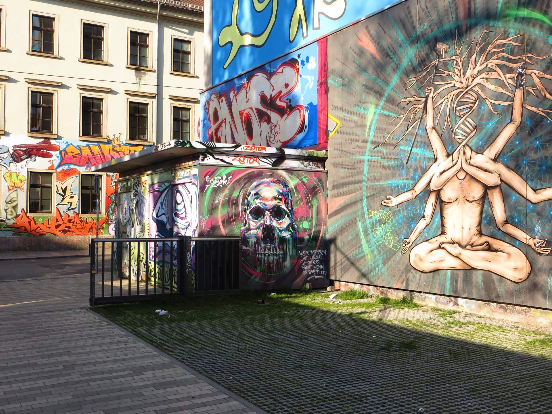Graffiti in der Dresdner Neustadt