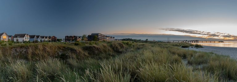 Typical,Resort,Landscape,On,The,Baltic,Sea,With,The,Beach,
