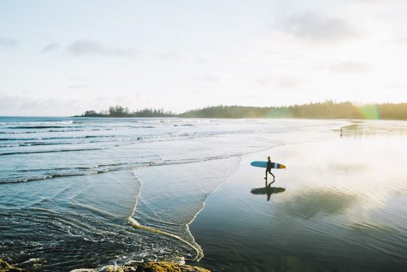 Surfer auf Vancouver Island