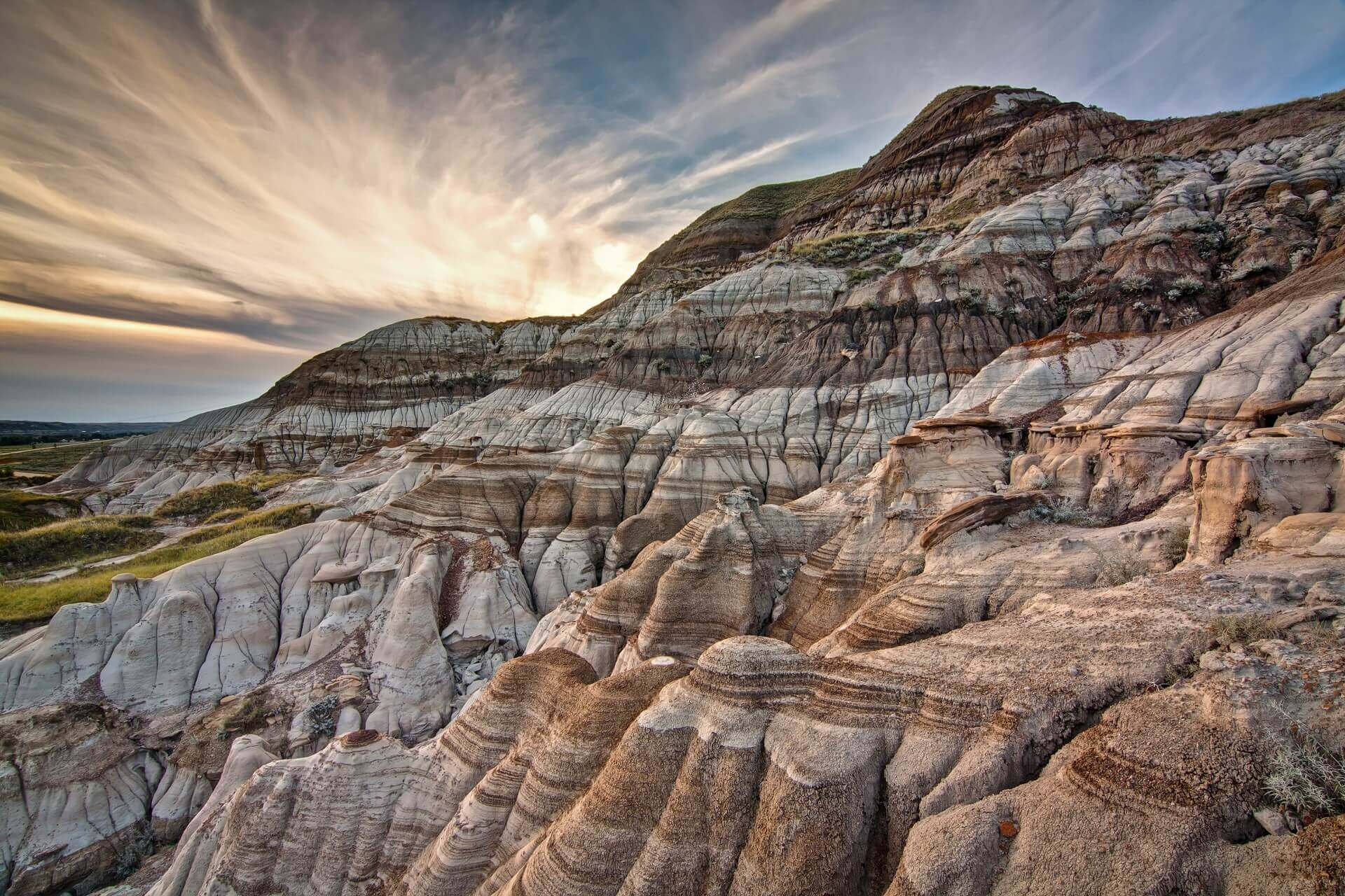 Die Badlands in Alberta