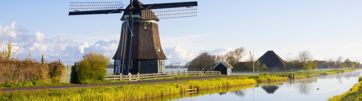 Eine Windmühle in Holland
